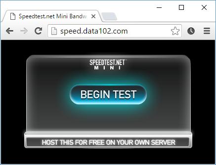 Data102 Direct Speedtest