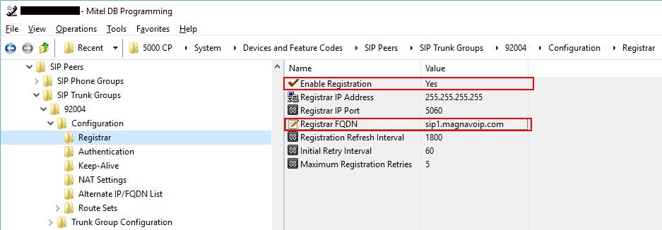 Configure Registrar